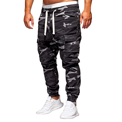 Best Deals! Men's Camo Cargo Pants|Men Relaxed Fit Straight Leg Multi Pocket Ankle Length Trousers |...