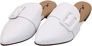 MISS AJ White Flat Long Lasting Shoes for Women