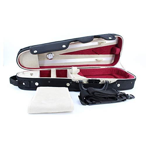 Viool Hard Case, Driehoekige vorm Fiddle Hard Case Met Hygrometer Handvat Rits Rugzak Bandjes Lichtgewicht Viool Draagtas Opbergtas Violin Beste Vriend