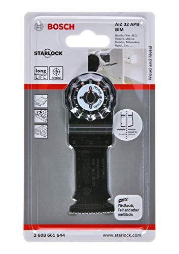 Bosch Professional Tauchsägeblatt Holz und Metall für Multifunktionswerkzeuge Starlock (AIZ 32 APB)