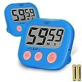 Kissarex Digitaler Küchen Countdown Timer: Lehrer-Klassenzimmer Zähler Großes LCD Lauter Magnetclip Einfache Uhr Mini Kleine Stoppuhr Großer Piepser Minute Stunde Sekunden Kochen Riesenalarm Count Up