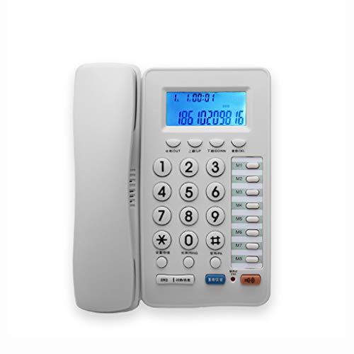 XXFFD Contestador automático, teléfono con Cable, teléfono, teléfono Fijo de Oficina, marcación de un Toque, Sonido Grande, Asiento de teléfono residencial for Ancianos (Color : White)