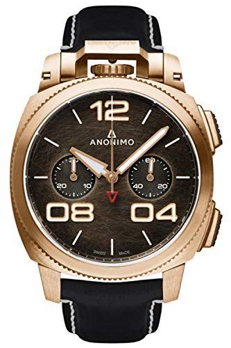 Anonimo militare orologio Uomo Analogico Automatico con cinturino in Pelle di vitello AM112004001A01