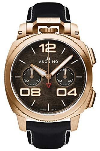 Anonimo Militare Reloj para Hombre Analógico de Automático con Brazalete de Piel de Vaca AM112004001A01