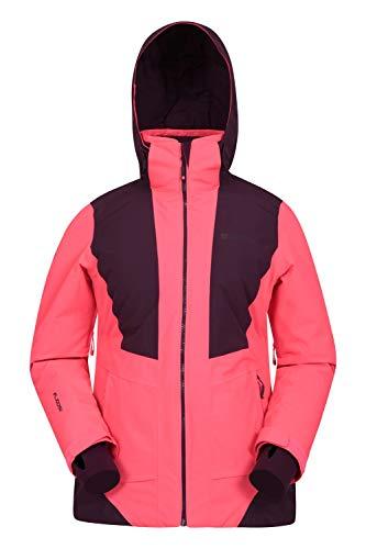 Mountain Warehouse Slalom Extreme wasserfeste Damen-Skijacke - Schneejacke/Snowboardjacke- Enge Passform, warm, angenehm, langlebig - ideale Winterjacke Koralle 34