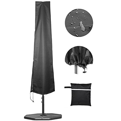 SOONHUA Protective Parasol Cover with Rod, Cantilever Parasol Protective Cover 2 to 4 m Large Umbrella Cover Weatherproof UV-Anti Windproof and Snow Safe Outdoor for Cantilever Parasol