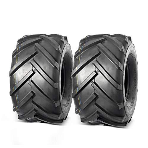 MaxAuto 2 PCS Zero Turn Mower Tire 21X11.00-8 LRB/4Ply for All-Terrain Vehicle All-Season Tire