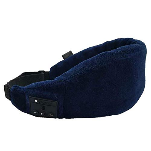 Wingeri Schlafen Schlafaugenmaske mit kabellosen Bluetooth-Kopfhörern, Bluetooth 4.2 Schlafen Stereo Eye Shades Kopfhörer Freisprech-Musik-Headset-Hörmuschel Waschbar for Reise-Siesta Reise