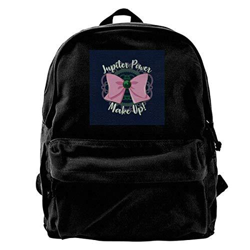 maichengxuan Canvas Backpack Jupiter Power Rucksack Gym Hiking Laptop Shoulder Bag Daypack for Men Women