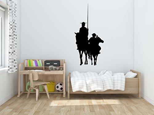 Oedim Vinilo Decorativo Pared Don Quijote y Sancho | 145x50cm | Adhesivo Resistente y de Fácil Aplicación | Multicolor | Pegatina Adhesiva Decorativa