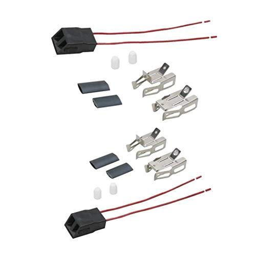 2pcs Range Stove Element Plug Receptacle Block Terminal Block Range Receptacle For Whirlpool Kenmore Electric Stove Range Burner Receptacle Kit ERR117 550226, 71930, 74-06-132, 74-06-190, 766339