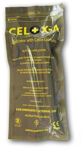 Celox V12090 Blood Clotting Granule Applicator and Plunger Set, 6 grams