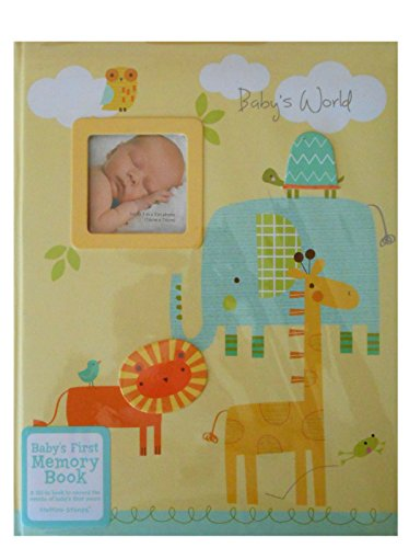 "C.R. Gibson Stepping Stones ""Baby's World"" Baby's First Memory Book - Animals"