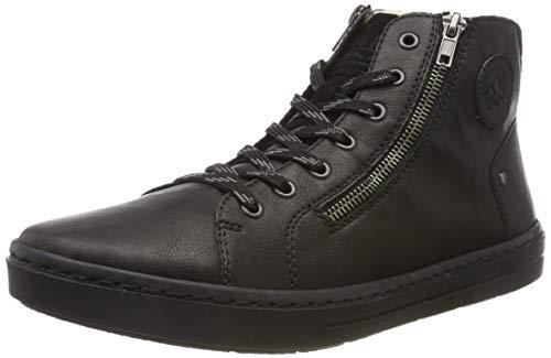 Rieker Herren 30921 Hohe Sneaker, Schwarz (Schwarz/Schwarz/Schwarz 01), 41 EU