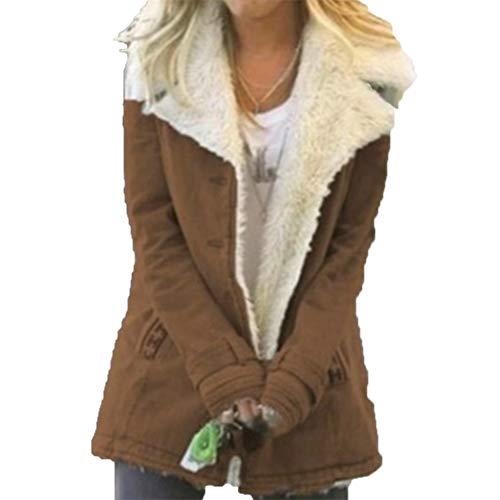 ZFQQ Abrigo de algodón cálido Grueso de Terciopelo Multicolor para Mujer de otoño e Invierno