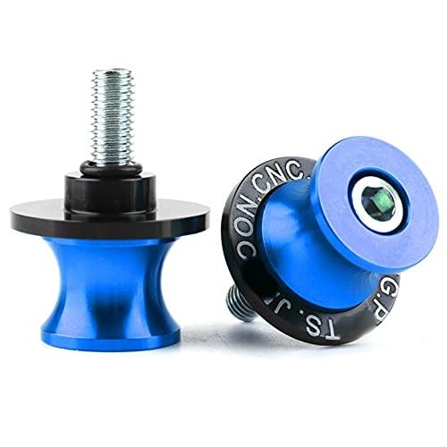 YBSM Deslizadores De Brazo Oscilante para Motocicleta, Carretes Paddock, Protector De Tornillo De Soporte De 8 M para B-MW K1200S 2004 2005 2006 2007 2008 Swing (Color : Blue)