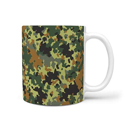 OwlOwlfan Taza de cerámica de camuflaje divertida taza de café con mango para el hogar, oficina, festival de cumpleaños, regalo para mujeres y hombres, blanco 11 oz