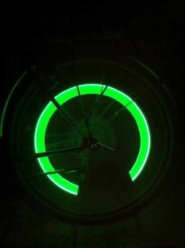 2 Stück Leuchtende LED Ventilkappen Fahrradbeleuchtung Speichenlicht Stylisch Felgen Beleuchtung GRÜN - RBrothersTechnologie