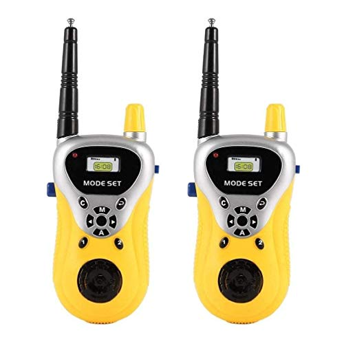 Wekidz Plastic Portable 2 Player Walkie Talkie Set for Kids with Extendable Antenna for Extra Range (Gift Wrapped)