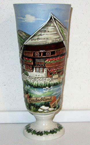 Erdinger 1990 - Jarra de cerveza blanca, diseño de casa de la Selva Negra