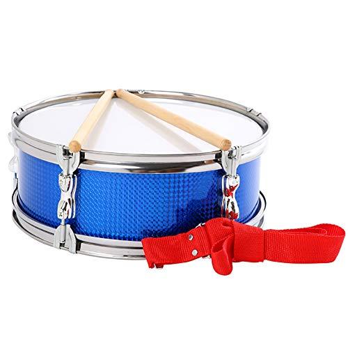 LJRhg RVS Ring Small Snare Drum Team, Snare Drum 13 Inch Voorzien van Snare Red Drum Belt, 32CM Drum Stick