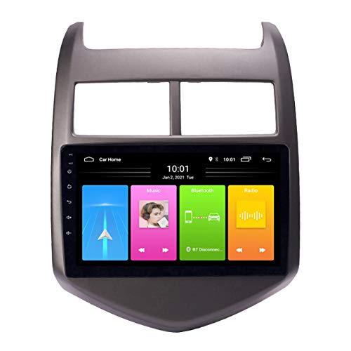 Navegación de coche, Android 10 Car Dvd Multimedia Navegación Gps para Chevrolet Aveo/Sonic 2011-2013, video de radio incorporado, con cámara de marcha atrás,Wifi 1g+16g