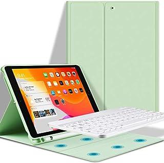 Teclado iPad 10.2 Funda, Funda con Teclado para iPad 10.2 (2019 7 Gen)/(2020 8 Gen) con Ranura de Lápiz -Teclado Bluetooth Inalámbrico Desmontable