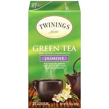Twinings of London Jasmine Green Tea Bags 25 Count  Pack of 1