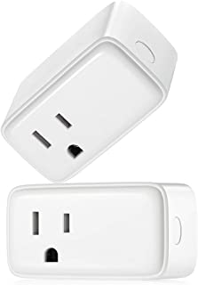 Linkind Smart Plug, No Hub Required, Compact Wi-Fi Outlet, 15Amp, Works with Alexa, Google Home for Voice Control, APP Remote Control, FCC Certified, Pack of 2