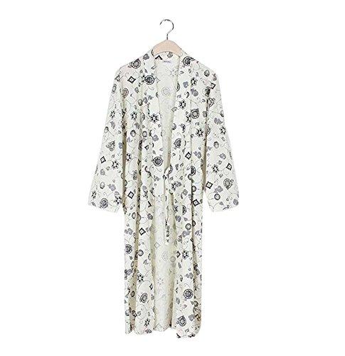 Juego de pijamas y albornoces Kimono Robe and Pant para hombre (Thin) - A4