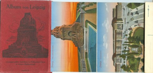 Album von Leipzig, 12 ausgewählte Ansichten in Postkarten-Form in feinem Farbendruck - Ausgabe B