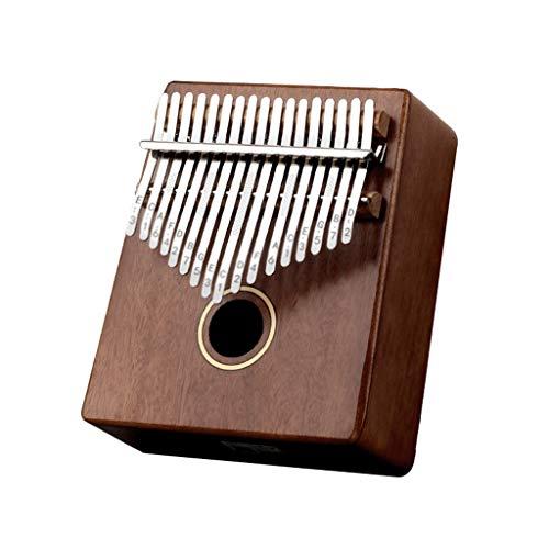 YYL Thumb Piano Kalimba 17 Tasti Regalo di Strumento Musicale Mbira Pianoforte con Corpo in Legno Massello con Istruzioni per L'apprendimento del Martello dello Spartito Musicale per Adulti