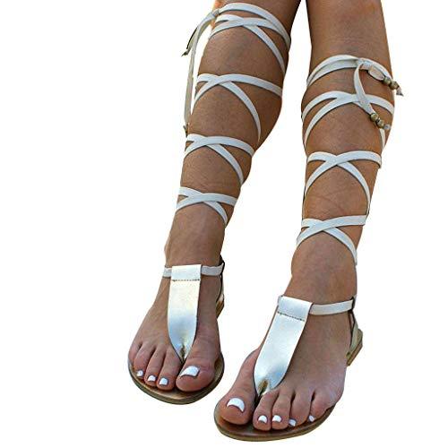 Writtian Sandalias Mujer Verano Planas Bohemia Sandalias Cómodo Casual Zapatos de Playa