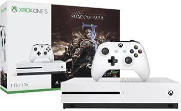 Xbox One S 1TB Console - Shadow of War Bundle