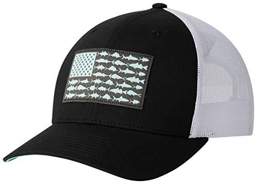 Columbia Men's PFG Fish Flag Snapback Ball Cap,Black, Graphite,One Size