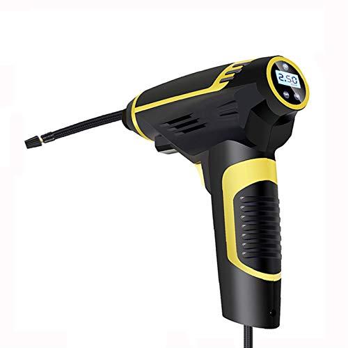 Digital LED Smart Car Air Compressor Bomba portátil Handheld Coche Neumático Inflador Bomba de Aire eléctrico 150 PSI Tool Tool Accesorios (Color Name : Wired)