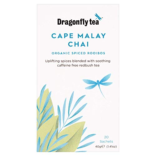 Dragonfly Tea Cape Malay Chai, Organic Spiced Rooibos, 20 Teabags (Pack of...