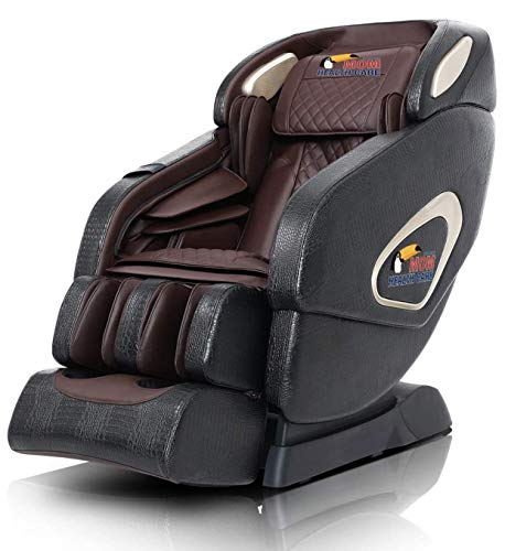 BODYFRIEND 4D Massage Chair | Multiple Airbags | Luxurious Look | Zero Gravity Feature | Bluetooth, Music | 1 Year On-site Warranty - BROWN