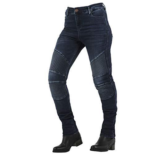OVERLAP Stradale Damen Jeanshose Straßenzulassung Blau, Größe 28