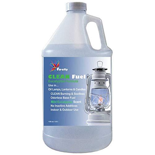 Firefly Kosher Eucalyptus Clean Fuel Lamp Oil – Smokeless/Virtually Odorless – Longer Burning – 1 Gallon
