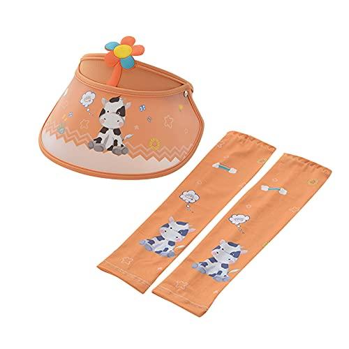 Sombrero de sol para niños a bordo ajustable con diseño de animales, para niños de 1 a 8 años