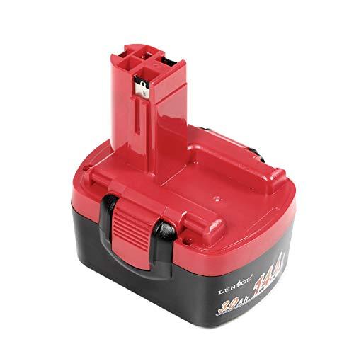 LENOGE Batteria di ricambio per Bosch 14.4V 3.0Ah BAT038 BAT040 BAT041 BAT140 BAT159 2607335533 GDS GHO PSR PSB PKS PDR GWS GSR GST 14.4v Series 13614 15614 1661 3454 AHS 41 ART 26 Trapano Avvitatore