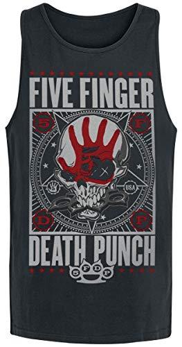 Five Finger Death Punch Punchagram Männer Tank-Top schwarz L 100% Baumwolle Band-Merch, Bands