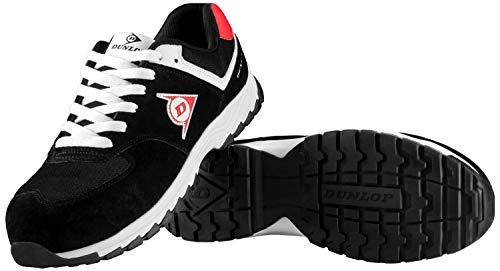 Dunlop Flying Arrow | Zapatos de Seguridad | Calzado de Trabajo S3 | con Puntera | Ligero y Transpirable | Nero & Bianco | Talla 44
