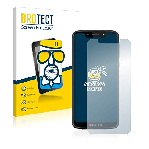 brotect Anti-Glare Glass Screen Protector compatible with Motorola Moto G7 Play - 9H Glass Protector Matte