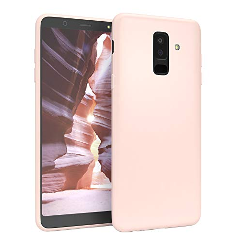 EAZY CASE Handyhülle Silikon mit Kameraschutz kompatibel mit Samsung Galaxy A6 Plus (2018) in Hellrosa, Rosa, Ultra dünn, Slimcover, Silikonhülle, Hülle, Softcase, Backcover