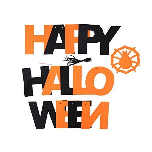 Happy Halloween Banner Gold Und Schwarze Garland Buchstaben Für Dramatische Partei Bild Hanging Banner Photo Booth Kulisse Dekorationen Aus Filz Karton