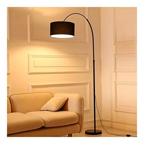 Floor Lamp-LED Arc Floor Light met Doek lampenkap-Living Room Verlichting Lamp for achter de bank-Slaapkamer Nachtlampjes Leeslamp LED (Color : Black, Size : White light)