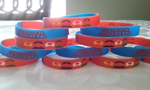 GLOW IN THE DARK - Super Mario bracelets party favors