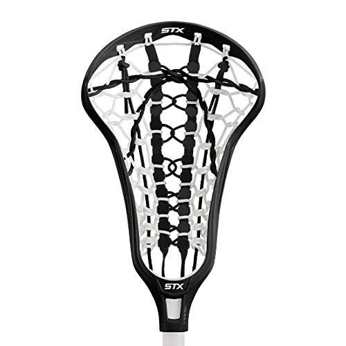 STX Crux 400 Girls Lacrosse Head - Strung (Black)
